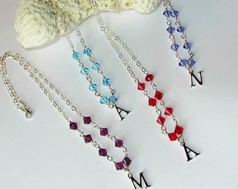 Bridesmaid & Flower Girl necklaces custom made to order