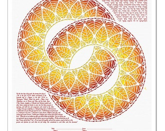 Ketubah: Rings of Life II