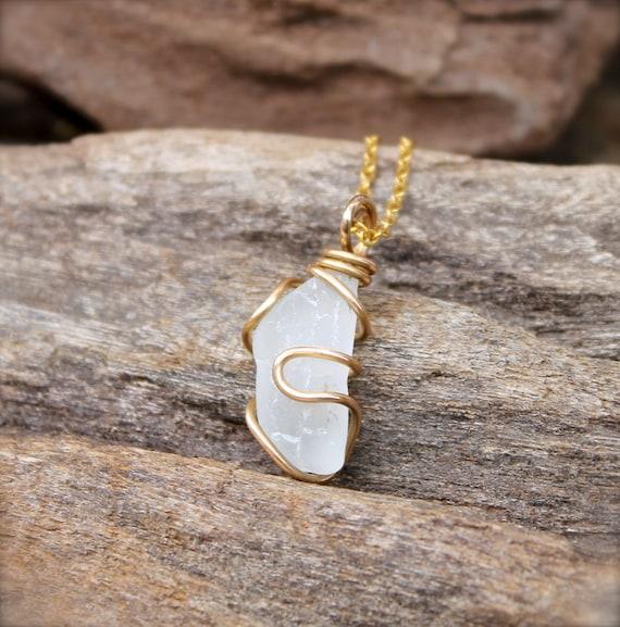 Sea Glass Jewelry made in Hawaii - Hawaiian Jewelry by Mermaid Tears - Sea Glass Necklace - Seaglass Jewelry from Hawaii - Hawaii Necklace