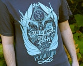 """Supernatural Shirt // Castiel Shirt """"Raised From Perdition"""" T-Shirt // Hand Screen Printed // Available in Plus Sizes"""