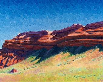 Giclee print, Butte with Sagegrass, 6 x 12 in.