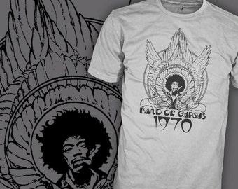 Jimi Hendrix Shirt - Band of Gypsys Shirt - 1970 Wings - Guitar Rock T-Shirt