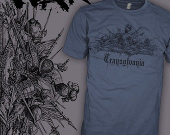 TRANSYLVANIA Shirt - Count Dracula Shirt - Medieval Gothic Vampire War - Horror T-Shirt - FREE SHIPPING