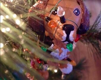 Custom Light Tangled Pet Portrait Ornament