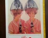 """Vintage 1960s COCA COLA """"coke"""" Ad - Free Shipping coca cola hair dryer futuristic ad"""