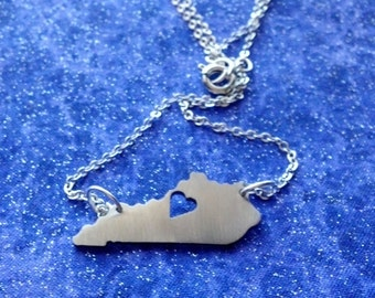 I Heart Kentucky - Necklace Pendant or Keychain