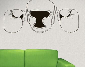 Vinyl Wall Decal Sticker Martial Arts Gear Outline 1479s