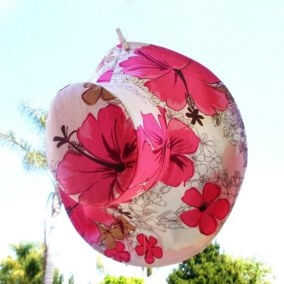 Big Floral Wide Brim Sun Hat Women's Beach Hat Summer Sunhat Tropical Print Hat Freckles California
