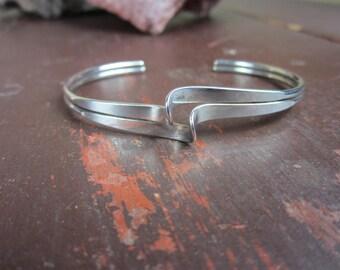 Sterling Silver Double Cuff  Bracelet  925