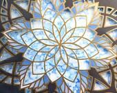 "Mandala ""Astral Projection"" - Illuminated 3-D Paper Sculpture Original Artwork"