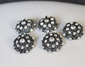 Cute   button with rhinestones  2  piece listing
