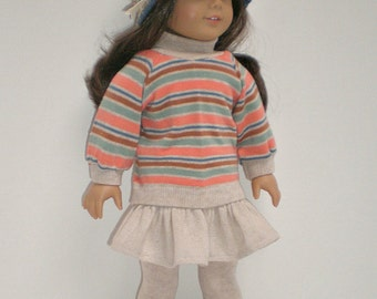 Striped Top fits 18 inch doll clothes