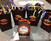 Halloween Candy Containers... French Fry Boxes, Paper Baskets and Milk Boxex