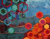 Bokeh Effect Hexagon Art Quilt