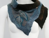 Nuno felted scarves - Felted Scarf - Felt Cowl - Organic texture- Natural Adventure