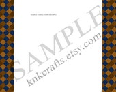 Ravenclaw Book Colors Checked Border Harry Potter Hogwarts Houses Stationery