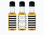 Custom Jack Daniels Mini Bottle Labels Wedding Favors Thank You Rehearsal Dinner Reception Whiskey Bridal Shower Bridal Party Gifts EB-1087