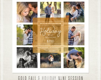 Photography Marketing Fall & Holiday Mini Sessions Template
