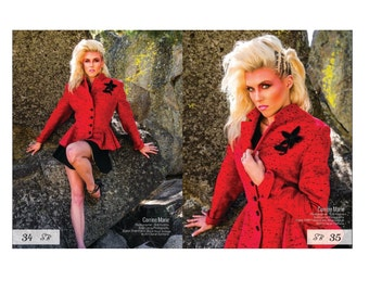Lilli Ann Jacket Vintage 1940s 1950s Red Wool High Fashion Magazine Editorial