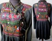 Rare Antique Thar Gipsy~Kutch Bangara Rajasthani Embroidered Cotton Tribal Tunic Jacket