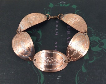 NEW Disneyland's California Adventure DCA Rides - Smashed Penny Bracelet - Limited Edition