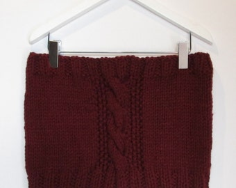 Cowl in Burgundy Chunky Wool