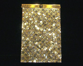 1950s Atomic Age Cigarette Case Confetti Lucite Mid Century Vintage Cigarette Case Mad Men