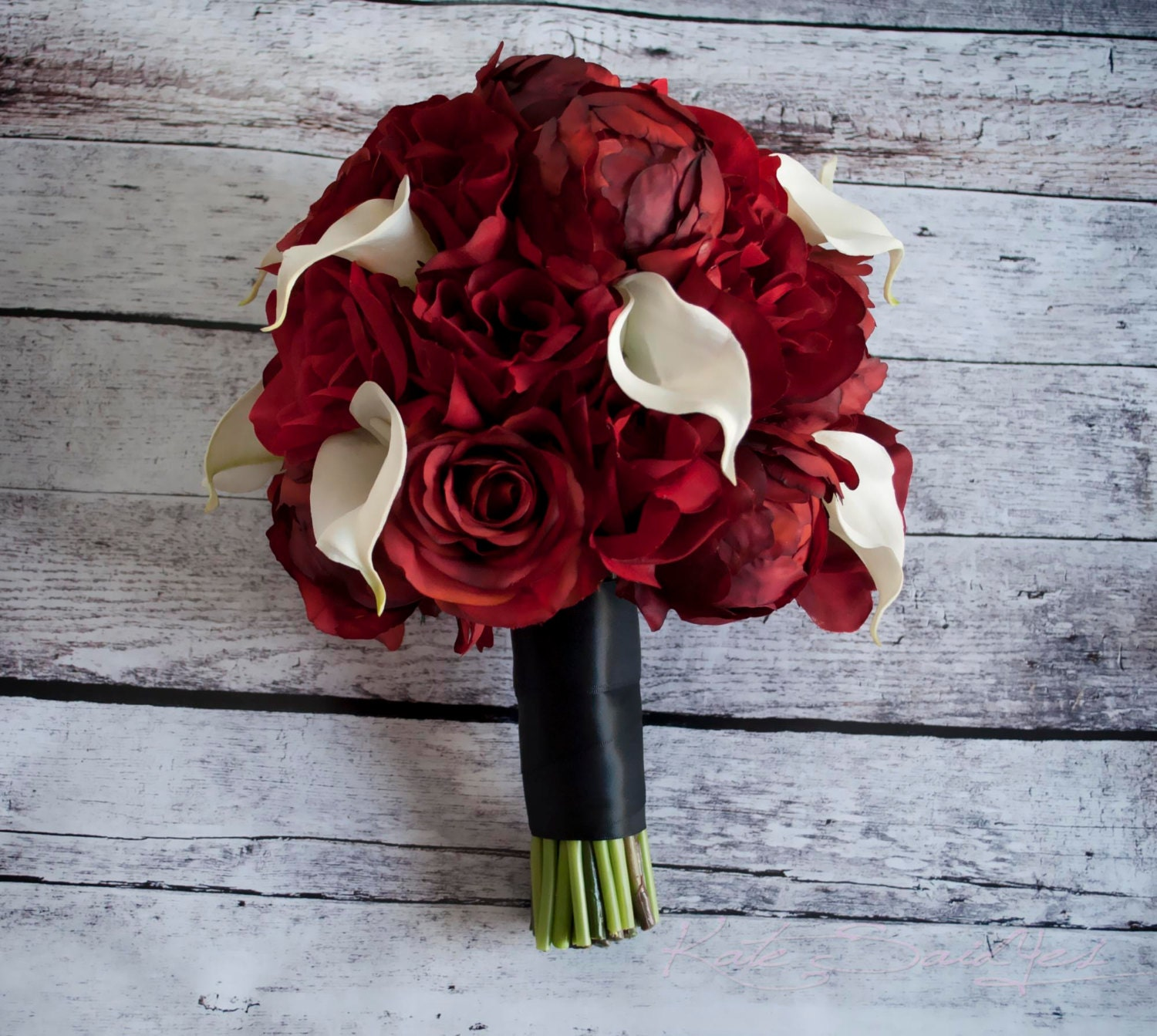 red peony rose and calla lily wedding bouquet. Black Bedroom Furniture Sets. Home Design Ideas