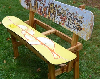 Recycled Snowboard Bench