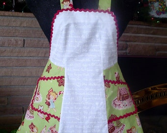 Retro Candy Land Themed Children's Christmas Apron