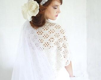 Wedding Shrug Ivory Knitted Bolero White Lace Shrug Bridal Shrug Occasional Shrug