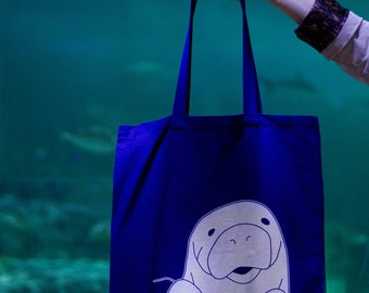 Happy Manatee Tote Bag