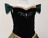Snow Princess Anna Coronation Costume- Printed Skirt