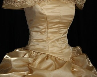 Gold Lace Beauty and the Beast Costume