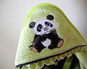 child hooded towel panda,  many colors