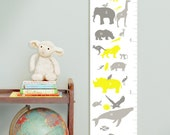Custom/ Personalized Alphabet Animals canvas growth chart