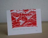 Valentine's Day Card Limited Edition Screenprint