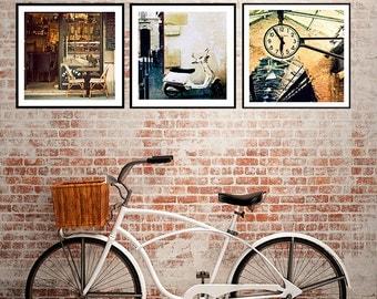 Set, Art, Photography, Sale, Special, Set of 3 Fine art Photos, Paris, New York, Travel Photography, Wall Art, Three 12x12 size images