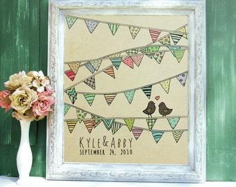 Love Birds // Personalized Wedding Guestbook Alternative,Custom Wedding Poster, Romantic Wedding Guestbook Tree, Love, Wedding, Reception