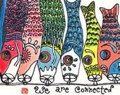Digital Download Etegami Carp Art (Japanese Koinobori)