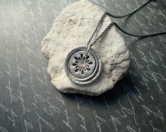 Snowflake PMC Pendant Handmade