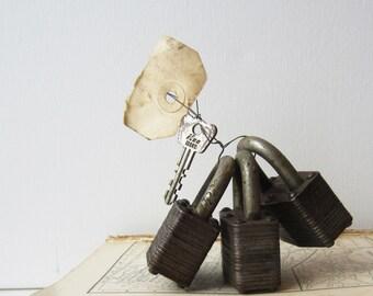 3 Working Master Pad Locks with Key