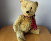 "Chiltern Bear - 18"" Vintage English Teddy - 1960's Mohair Bear - Chiltern Bear with Label"