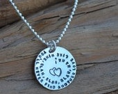 Personalized Jewelry - Sterling Silver Necklace - Choose your own words -Songs, Quotes etc - For Him or Her , Birthday , Anniversary,Wedding