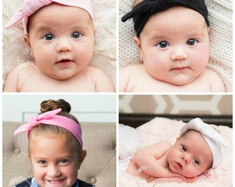 CLEARANCE SALE Baby Headbands, Girls Head wraps, Baby Head wraps, Jersey Knit Headwraps, Baby Headbands, Knott Headband,Baby headbands