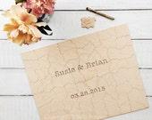 100 pc Wedding Guestbook Puzzle, custom guestbook alternative, WOOD puzzle guest book, Bella Puzzles™, rustic wedding, boho wedding