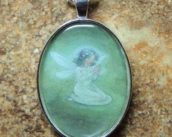 Prayer Fairy Pendant Necklace