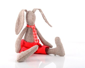 Cloth doll softie plush stuffed doll cute rag doll handmade child friendly fabric doll  plush  Plush bunny doll ,pure knitted silk rabbit