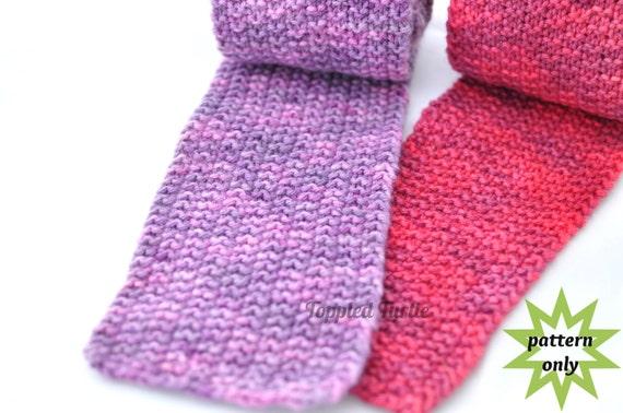 PDF Pattern | Reversible Knit Scarf Pattern | Modified Moss Stitch Scarf Pattern | Beginner Scarf Pattern | Easy Knit Scarf Pattern