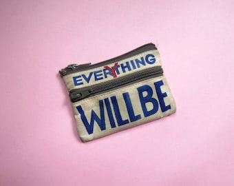 BEAT-UP PURSE - Everything will be okay. (artist belonging)
